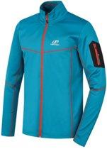 Hannah heren sweat vest Tiller PS Full-Zip - Stretch - Blauw - Oranje XL