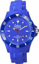 Colori Classic 5 COL070 Horloge - Siliconen Band - Ø 36 mm - Blauw