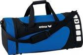 Erima Sporttas Club 5 Line Blauw/ Zwart Maat L