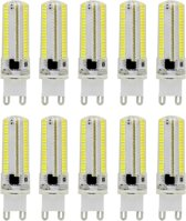 10 stuks G9 7W 3014 SMD 152 LEDs Cold White dimbare silicone Corn lamp energiebesparende lamp  AC 110V