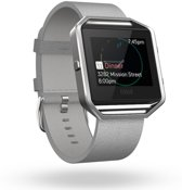 Fitbit Blaze Accessory Band Leer - Grijs - Small