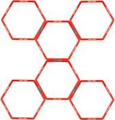 Avento Trainingsframe Hexagoon 6-delig - Fluororanje/Antraciet