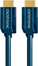 ClickTronic 2m High Speed HDMI HDMI kabel HDMI Type A (Standaard) Blauw