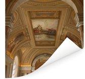 Unieke architectuur in het Vaticaanse Musea Poster 100x100 cm - Foto print op Poster (wanddecoratie woonkamer / slaapkamer)