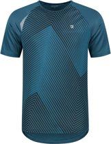 Redmax Heren T-shirt print en reflecterende details - Blauw all over printed - L