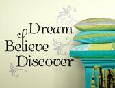 RoomMates Muursticker Dream, Believe & Discover - Multi