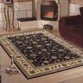 Vloerkleed klassiek Marrakesh perzisch patroon zwart 200x290 cm