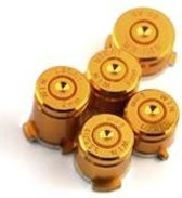 Gold Alu Bullet buttons - x box one
