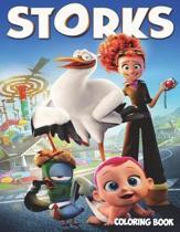 Storks Coloring Book