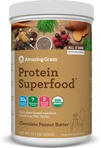 Amazing Grass Protein Superfoods - Chocolate Peanut Butter - 1 verpakking (341 gram) - Vegan supplement