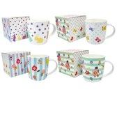 GINGER Ceramic Mugs - set 4 grote mokken