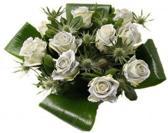 Boeket 10 glitter zilveren rozen