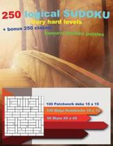 250 Logical Sudoku - Very Hard Levels + Bonus 250 Classic Samurai Sudoku Puzzles