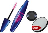 Maybelline Volum Express The Rocket Black - Mascara + Gratis Make Up Spiegel