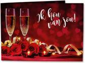 Liefdeswenskaart - Muziekwenskaart - Ik Hou Van Jou - Wenskaart met geluid en lichtjes - Geleverd met envelop - Candlelight - Jan van Veen