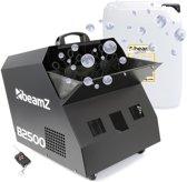 Bellenblaasmachine - Beamz B2500 professionele dubbele bellenblaasmachine met draadloze afstandsbediening en 5 liter vloeistof