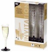 Plastic champagne glazen - 20 stuks