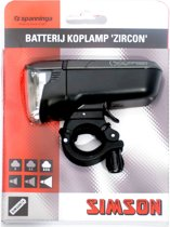 Simson Zircon - Fietslamp - Batterij - LED - Zilver