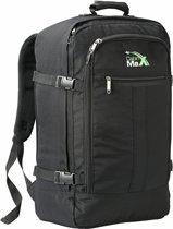 CabinMax Metz – Handbagage - Rugzak 44l– Schooltas - 55x40x20cm – Lichtgewicht  (MZ BK)