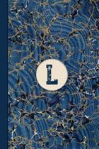 Monogram L Marble Notebook (Blue Ginger Edition)