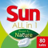 Sun Powered by Nature eco vaatwastabletten - 4x20 tabs - duurzaam