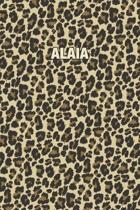 Alaia: Personalized Notebook - Leopard Print (Animal Pattern). Blank College Ruled (Lined) Journal for Notes, Journaling, Dia