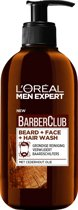 L'Oréal Paris Men Expert BarberClub Beard Face &  Hair Wash - 200 ml - Gezichtsreiniging