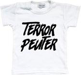 Unisex T-shirt Terror Peuter wit