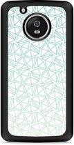 Moto G5 Plus Hardcase Hoesje Triangles