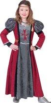 Middeleeuwse & Renaissance Strijders Kostuum | Roughside Lady Jurk Meisje | Maat 164 | Carnaval kostuum | Verkleedkleding