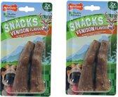 Nylabone gezonde harde snack hert M 2x - per 2 verpakkingen