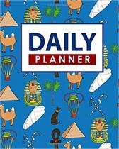 Daily Planner: Daily Planner And Notebook, Desk Planner, Daily Schedule Note Pad, Planner Templates, Cute Ancient Egypt Pyramids Cove