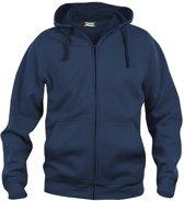 Basic hoody full zip dark navy m
