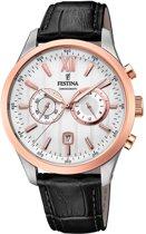 Festina F16997/1 Chronograaf - Horloge - Staal - Zilverkleurig - 43,5mm