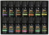 Complete Essentiële Olie Set - Top 14 Etherische Oliën inclusief o.a. Lavendel, Eucalyptus, Tea Tree, Pepermunt, Rozemarijn, Sinaasappel, Citroen en Kaneel