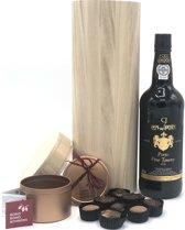 Port Tawny 75cl | Cadeau | 8x biologische bonbons | Biologisch | Cadeau | Wijngeschenk | Duurzaam | Chocola | Port