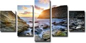 Art4-all - Canvas Schilderij Strand - 160x80cm
