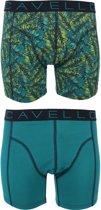 Cavello - 2-pack Boxershorts Groen / Blad - M