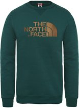 The North Face Drew Peak Crew sweater heren groen/goud