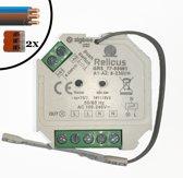 Zigbee AC Dimmer 230 Volt- 200/400 Watt | Inclusief installatiemateriaal | Inbouw | Fase Afsnijden | Te Gebruiken met Philips Hue/IKEA home smart/Google Home/Alexa