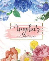 Angelia's Planner: Monthly Planner 3 Years January - December 2020-2022 - Monthly View - Calendar Views Floral Cover - Sunday start