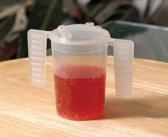 Beker met 2 vleugel handvatten en 2 drinktuitjes 250 ml (per 2)