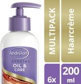 Andrélon Oil & Care - 200 ml - Haarcrème - 6 stuks - Voordeelverpakking