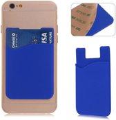 Blauwe kaarthouder - voor zowel Apple iPhone als Android Samsung