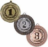 Medailles set goud 1, zilver 2 en brons 3