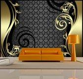 Fotobehang - Gouden gordijn
