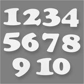 Cijfers, h: 10 cm, 6 sets, 220 gr