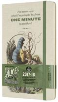 Moleskine Limited Edition Alice in Wonderland - 18 Months Weekly Planner 2017/2018 - Large - Almond White