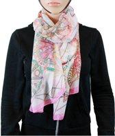 Sjaal 100% Polyester Lichtroze