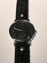 Horloge zwart snakeprint